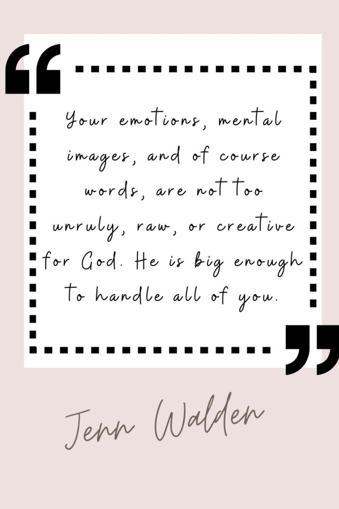 Quote Praying Beyond Words, Jenn Walden